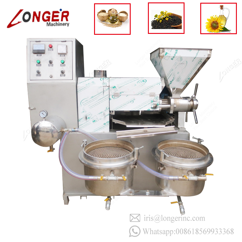 Spiral Type Small Cold Coconut Plant Oil Extraction Machine Automatic Sunflower Oil Press Machine For Sale