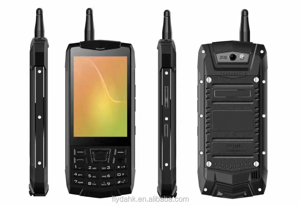 Android phone with keyboard ip68 waterproof smartphone N2 android 6.0 quad core rugged military nfc walkie talkie phone.