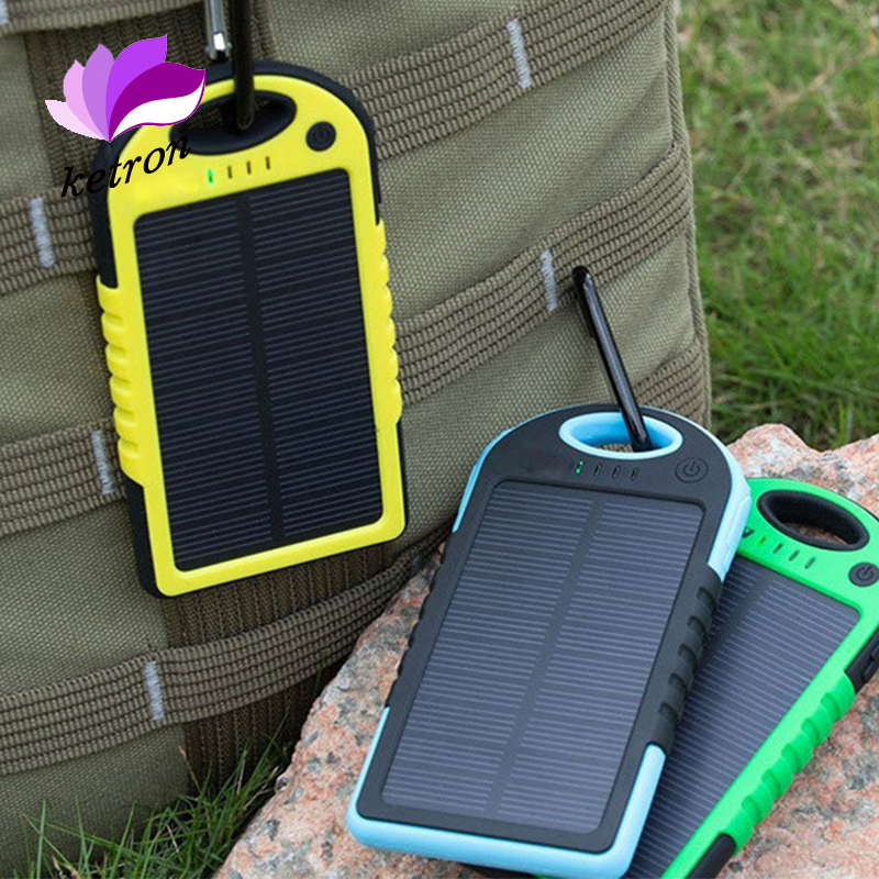 waterproof portable solar cell charger ,Portable Solar power bank 5000mah