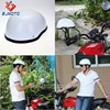 Custom ABS Adult Medium Motorcycle Gloss White Helmet Skull Cap Novelty Low Profile Half Helmets Fit For Chopper Bobber