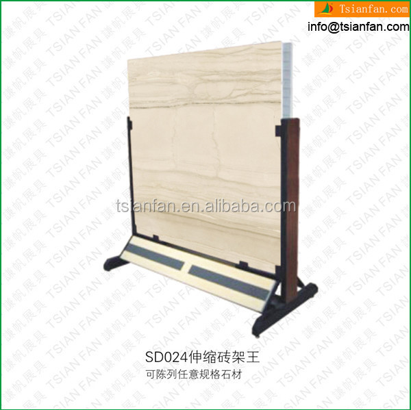 SD024A Sample stone slab metal display rack