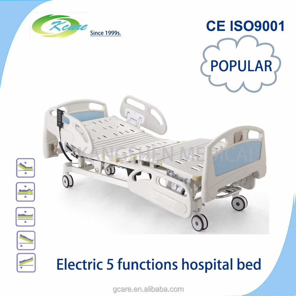 electric 5functions Long term care medical bed with toilet