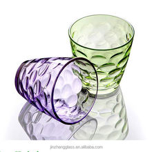 Colorful household Table Decoration glass ware for milkshakes