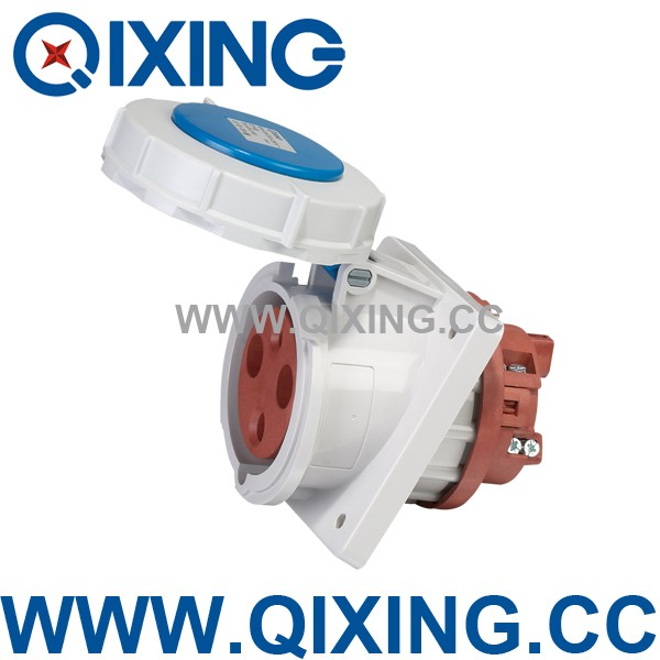 63amp waterproof industrial 3pin wall Angle socket qx2180