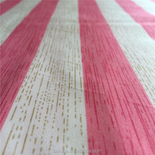 100 percent polyester brushed fabric with stripe pattern printed for bedding set