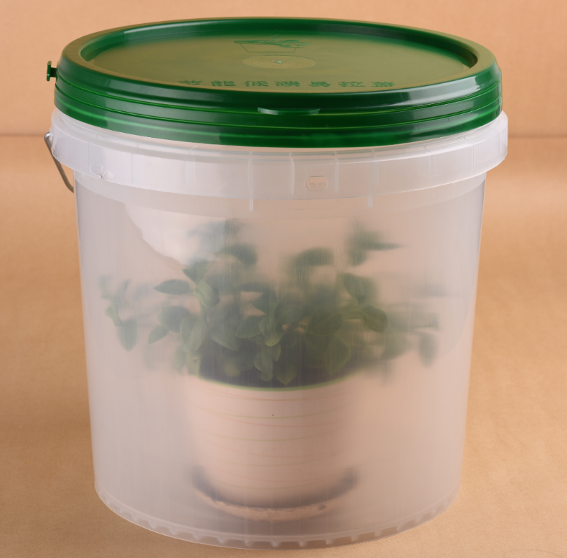 5 Gallon Clear Translucent Food Grade Plastic Bucket With
