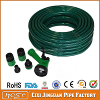 Cixi Jinguan 12mm Green PVC Garden Hose with Accessories,Flexible Water Braided Hose,High Pressure Flexible Water Hose