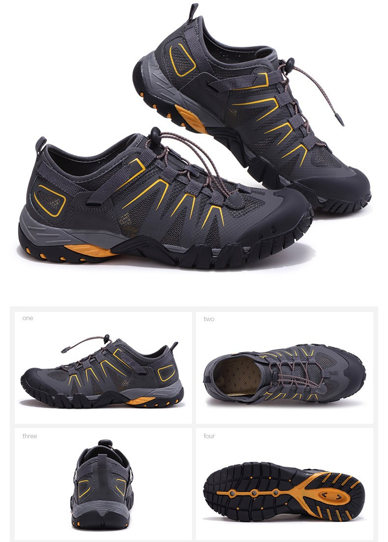 Custom Outdoor Men Hiking Sports Shoes Breathable Trekking