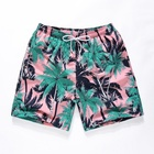Factory Supply Swim Trunks With Underpants Beachwear Casual Men Women Printed Beach Shorts Quick Dry Swimwear