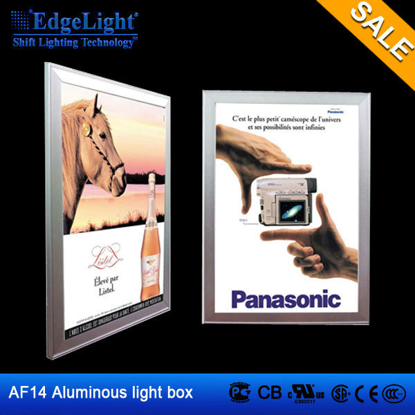 Edgelight AF14 light box advertising extreme light box with 13mm