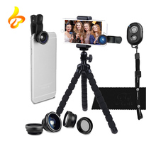 Universal Octopus Pod Telephoto, CPL, Fish Eye, Macro, Bluetooth Remote Control 5 in 1 Smart phone Lens Kit