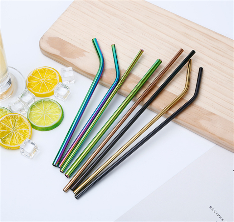 bent FDA stainless steel straw eco smoothie