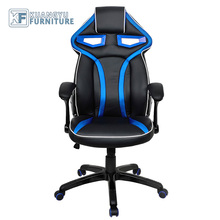 Sport Racing Car Office Gaming Chair, Leather Racing Chair with Lumber Support