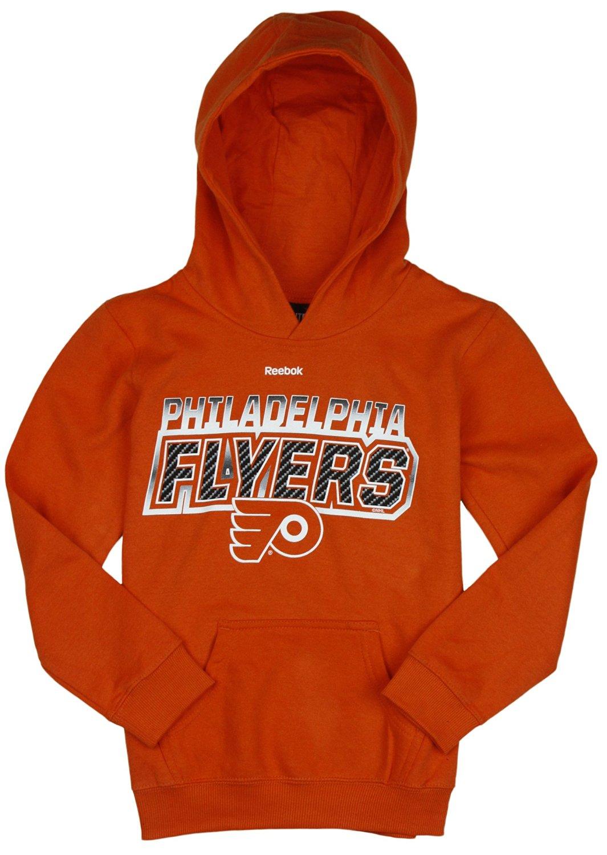 Get Quotations · Philadelphia Flyers NHL Big Boys Bicarbonite Hoodie -  Orange f6ec217cf