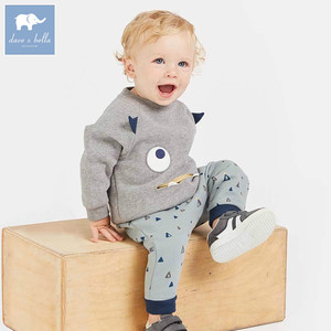 DBW8619 dave bella autumn baby boys long sleeve clothing sets infant toddler top+pants 2 pcs outfits children high quality suits