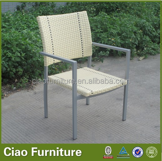 High quality color optional patio aluminum frame poly rattan chairs