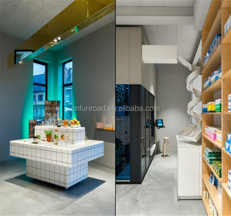 retail affordable pharmacy store fixtures best pharmacy store design