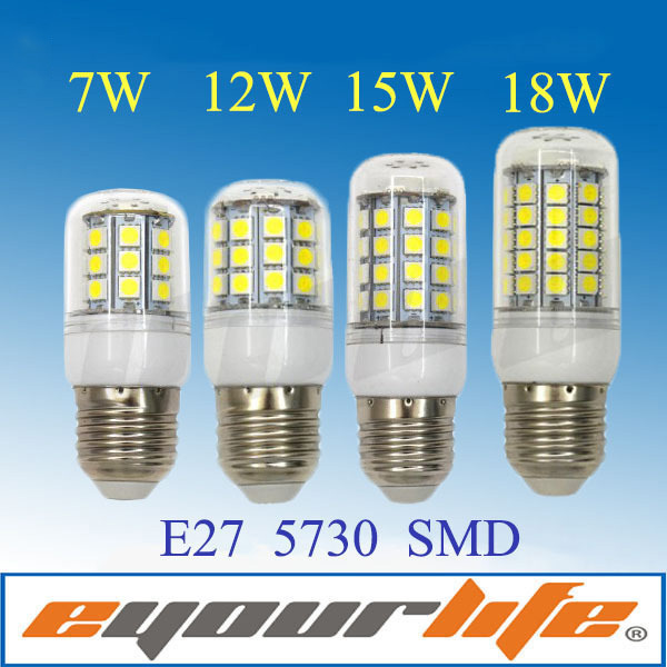 Corn 5730 15w Lamps Brand Eyourlife 18w E14 7w 12w E27 220v 20w Led Bulb Lights mNw80n