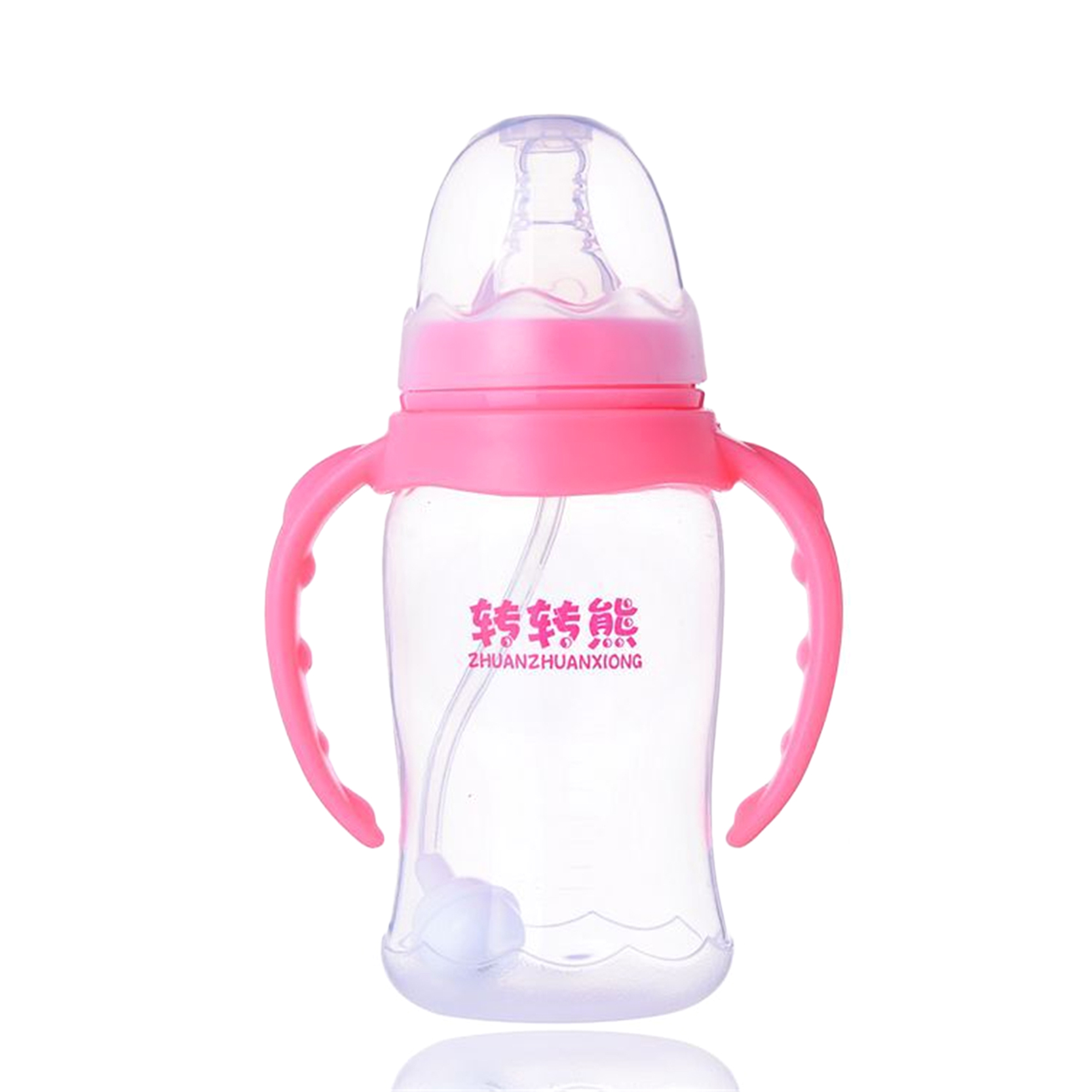 2016 New Arrival Baby Feeding Bottle 3 Color Baby Nursing Bottle High Quality Nipple Water Cup