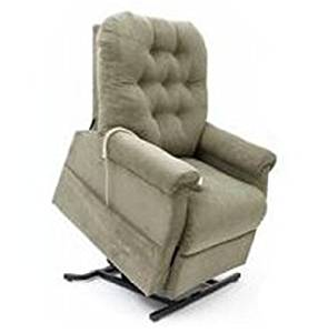 Easy Comfort 3-Position Reclining Power Electric Lift Chair Recliner with Inside Home Delivery and Setup - Sage Green Color Fabric