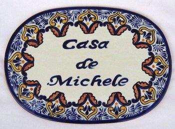 decorative tile oval plaque casa de michele buy decorative tile product on. Black Bedroom Furniture Sets. Home Design Ideas