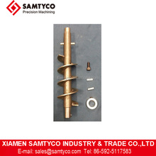 High quality CNC machining brass and stainless steel auger shaft