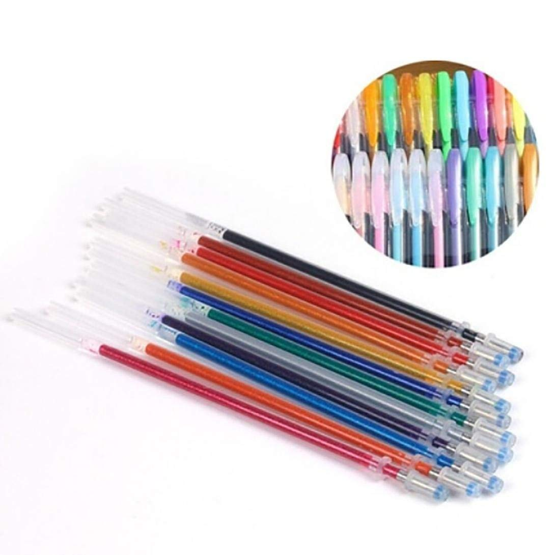 Hunzed Gel Pen, { 60pcs Gel Pens } { Gel Refills Rollerball Office Pen } { Pastel Neon Glitter Pen Drawing Colors Pen } Nice Gifts