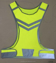 high visibility cycling vest/high vis roadway safety running jogging riding elastic warning reflective vest