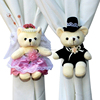 Lovely Plush Couple Teddy Bear Window Curtain Tieback Curtain Buckle Clamp Hook Fastener Accessories