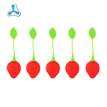 Customised 100% food grade colorful fruit shaped silicone tea infuser,tea strainer