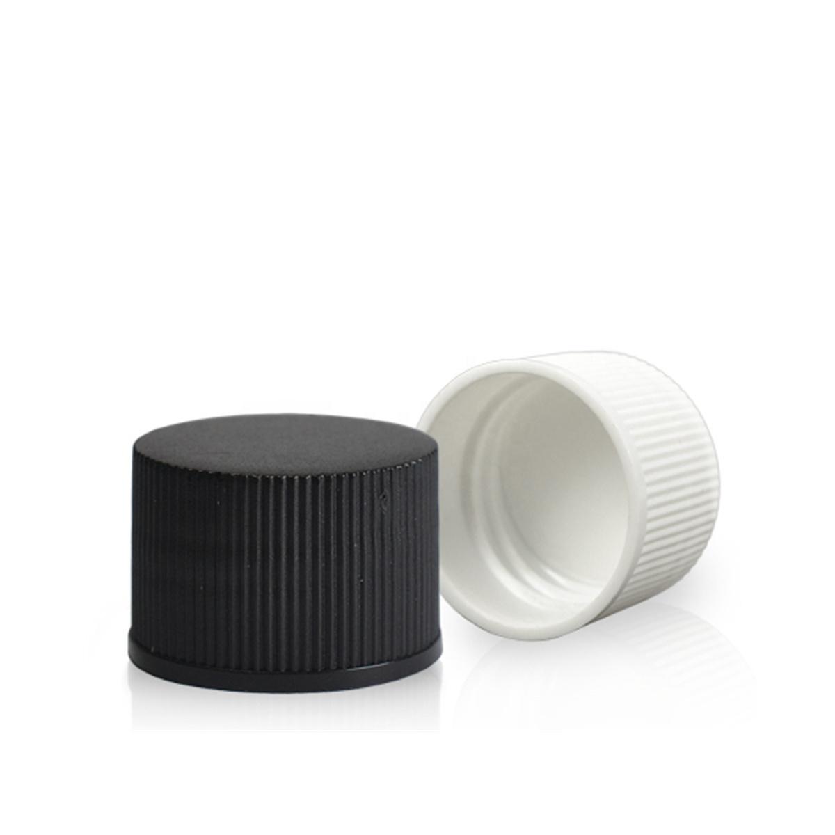 20/410 24/410 28/410 White Black Plastic Bottle Cap Closure PP Screw Cap