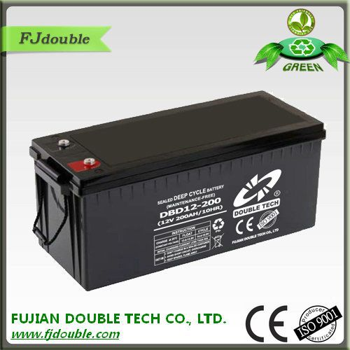 Environment protection 12v 200ah ups battery solar power storage