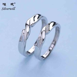 925 sterling silver exclusive couple rings for Valentine 's gift