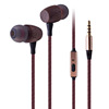 HiFi FSC custom logo wooden environmental 3.5mm headphone with microphone oem cherry wood/walnut/bamboo in ear earphone