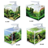 SOBO CL-300F/400F CR300F/400F Hot sale mini aqua scaping tank set high clear fish tank