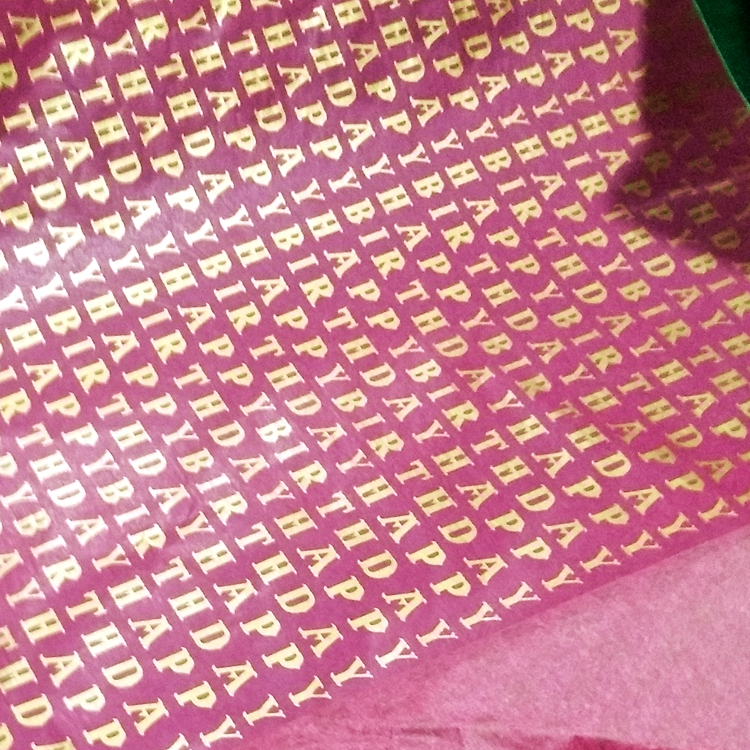 17gsm/22gsm foil custom printed clothing tissue paper packaging custom logo wrapping paper