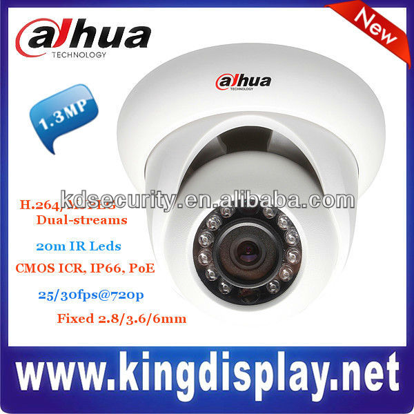 2.8mm 1.3 Megapixel MJEPG Dual-stream ICR IP66 IR IP Camera with TI solution