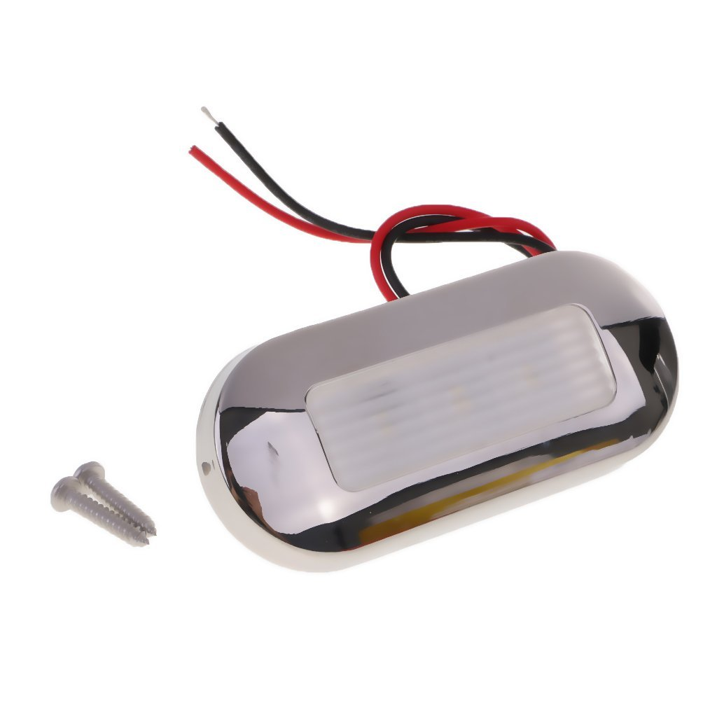 2 Pieces 316 Stainless Steel 12V Marine//Boat LED Surface Mount Courtesy