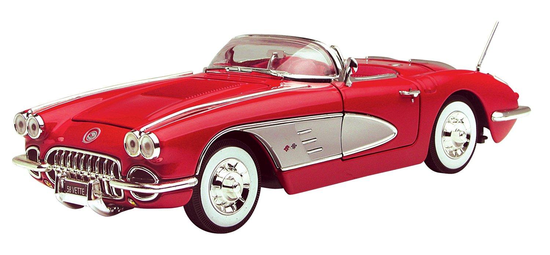 Motormax 1:18 Die-Cast 1958 Corvette (Colors May Vary)