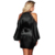 Wholesale New Arrival Black Lace Robe Woman Sexy Off Shoulder Babydoll Lingerie