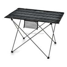 popular light metal canvas portable foldable camping table with a carrybag