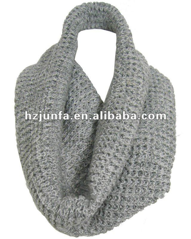 men knitted acrylic jacquard neck warmers