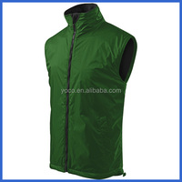 Green sleeveless work men padding vest