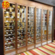 Stainless steel cabinet lighting bar rack novelty metal wine holder