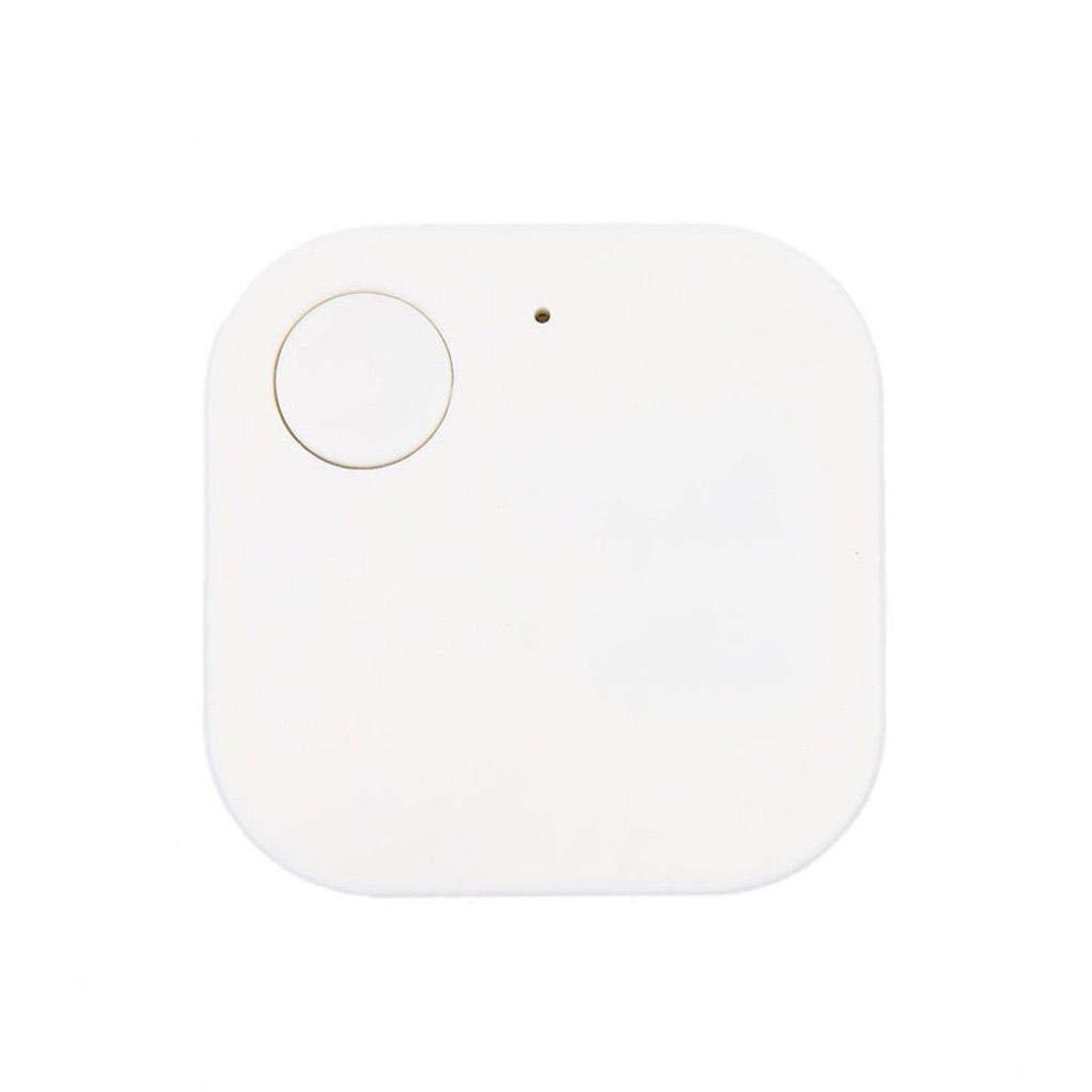 Iusun Anti Lost Device, Mini GPS Tracker Car Motor Kids Pets Wallet Keys Smart Alarm Locator Realtime Finder Device (White)