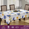 guangzhou high quality flower printed plastic table cloth flannel back