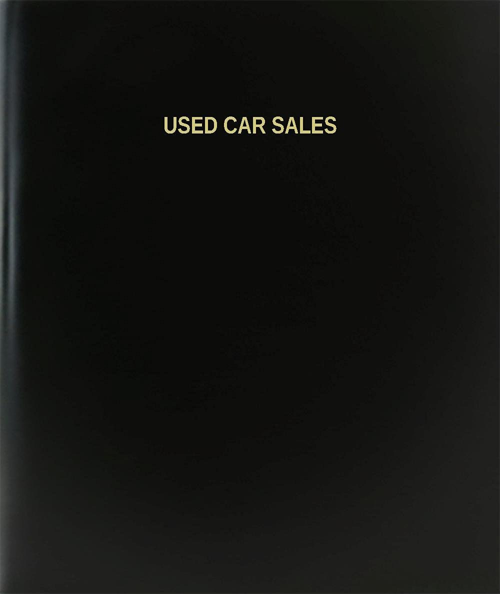 "BookFactory® Used Car Sales Log Book / Journal / Logbook - 120 Page, 8.5""x11"", Black Hardbound (XLog-120-7CS-A-L-Black(Used Car Sales Log Book))"