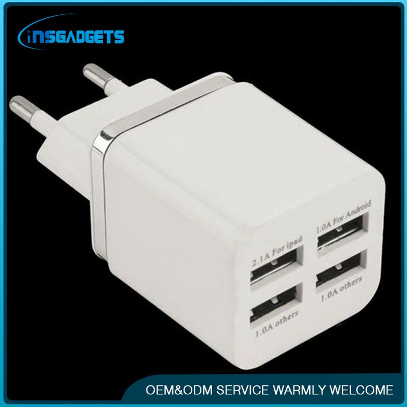 Travel plug charger with four usb ,h0tR2 4 ports usb travel wall charger for sale
