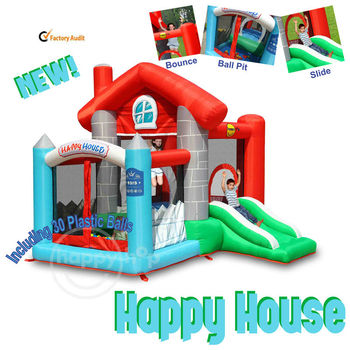 Happy hop 9315 inflatable combo house bouncer slide and for Happy hop inflatable water slide