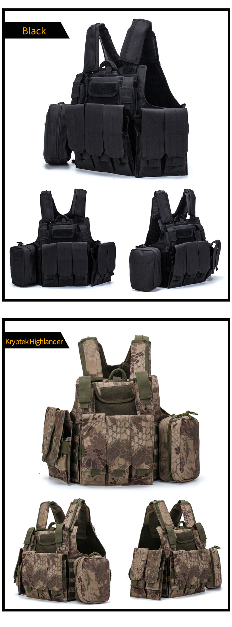 Bucksgear Manufacturer Custom Fashion Safety Security Protective Police Molle Combat Army Military Tactical Vest